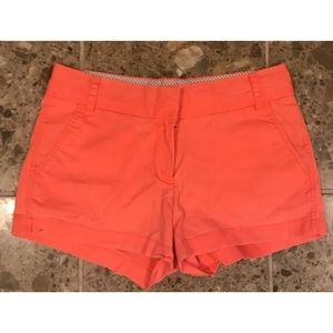 J Crew Salmon Coral Chino Shorts Size 4